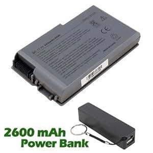 Battpit Bateria de repuesto para portátiles Dell 312-0068 (4400mah / 49wh) con 2600mAh Banco de energía / batería externa (negro) para Smartphone