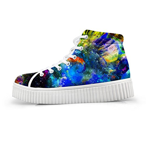 Bigcardesigns Classical Galaxy Design High Top Casual Sneakers Lace Up Flat Shoes Unisex Style6 IckiB6ao