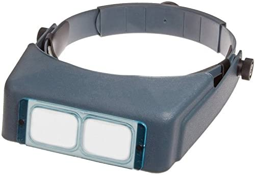 Glass Lens Optivisor Headband Magnifying Glass 1.5X 3.5X Helmet Repair Magnifier