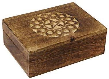 par Icrafts travail artisanal Bo/îte /à bijoux en bois