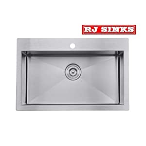 16 Gauge Top Mount Stainless Steel Kitchen Sinks