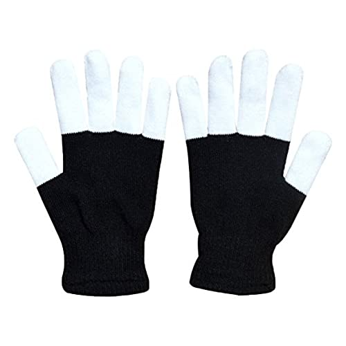 w plus flashing finger lighting gloves led colorful rave gloves 7 colors light show light up toys christmas gift