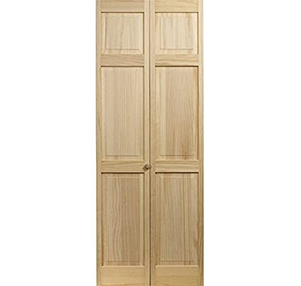 LTL Home Products 810626 Raised Panel Bifold Interior Wood Door, 30 Inches  X 80 Inches