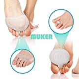 4 Pieces Metatarsal Pads Forefoot Pain Relief Foot Pad (Breathable & Re-Usable) for Women and Men - Ball of Foot Cushions
