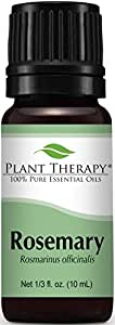 Plant Therapy Rosemary Essential Oil. 100% Pure, Undiluted, Therapeutic Grade. 10 ml (1/3 oz).