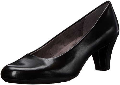 Aerosoles Leather Pumps (Aerosoles Women's Shore Thing Dress Pump, Black Leather, 9 M US)