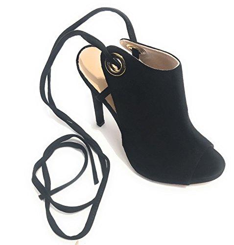 liu jo - Sandalias de vestir de ante para mujer negro negro