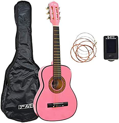 3rd Avenue Paquete de guitarra, Rosado, 1/2 tamaño, Paquete ...