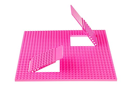 "Strictly Briks Classic Trap & Gap 10"" x 10"" Pink Stackable Baseplate 