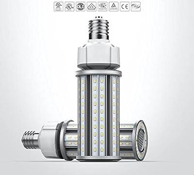 12Watt LED Corn Light Bulb for Street Lamp Indoor Outdoor Area Lighting, 360 Beam Angle, E26 Mogul Screw Base (E39 Adapter Available), 1300lm, 5000K Daylight White, Waterproof IP64, UL-listed