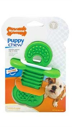 Nylabone Puppy Rhino Teethers Chew Toy, Small, My Pet Supplies
