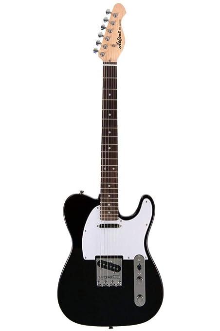 Aria 615B - Guitarra Telecaster, color negro