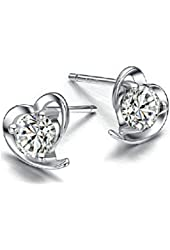 Centauri Jewelry Sterling Silver Sparkling Simulated Diamond stud earrings for women