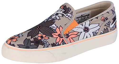 Nike Women's Toki Slip Print Shoes-Rattan/Sail/Sunset Glow-8.5