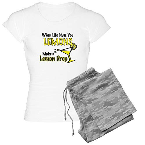 (CafePress When Life Gives You Lemons. Womens Novelty Cotton Pajama Set, Comfortable PJ Sleepwear)