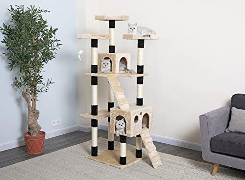 Go Pet Club Cat Tree, 33-Inch by 22-Inch by 72-Inch, Beige/Black