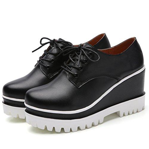 Haute Compensé Rouge Talon à Chaussures Casuel Femme de Noir JRenok Loisir Confort Noir 5 Ville 8 Mode Blanc CM Mocassins wP0qwxFRn