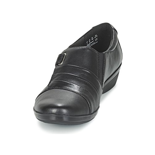 Clarks Black Luna Casuales Zapatos Everlay Mujer De De rY0rpq