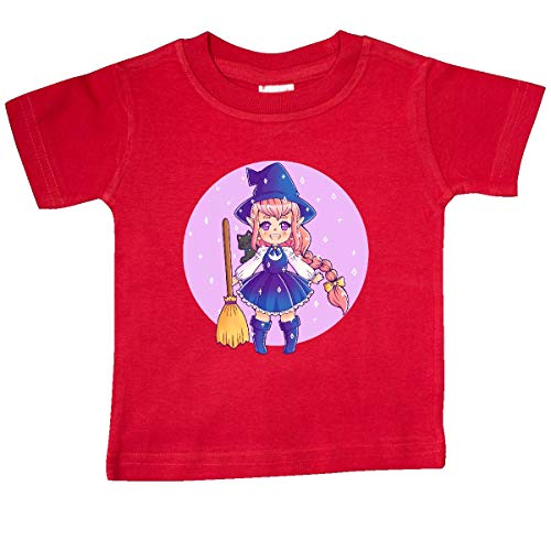 inktastic - Halloween Cute Chibi Anime Witch Baby T-Shirt 18 Months Red 369f0 -