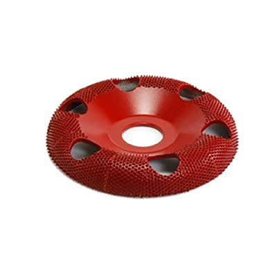 "4"" Donut Wheel W/ Holes Round Face (Medium Grit) 7/8"" Bore"