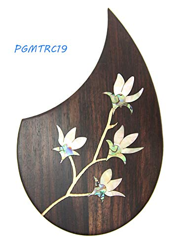 (Acoustic Classical Guitar Rosewood Pickguard with MOP/Abalobe/Wood Inlay Pattern. (PGMTRC19))