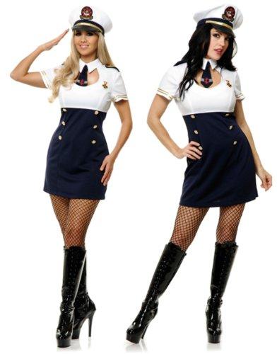 Charades Adults Womens High Seas Captain Hottie Sailor