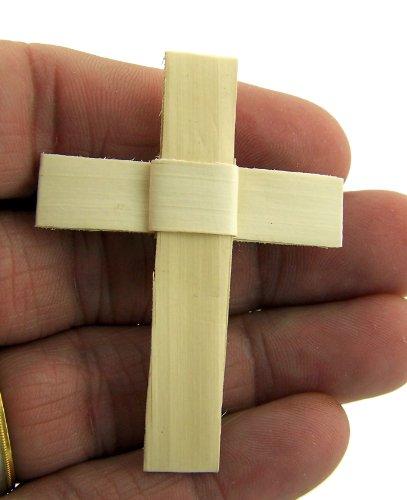 Palm Leaf Lapel Pin 2 Inch Latin Cross Pendant Fashion Accessory for Men or Women