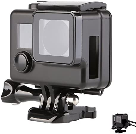 SHOOT Seiten Offene Gehäuse Schutzhülle Sekleton für GoPro 3+/4 Kamera mit USB HDMI und SD- Slots(Schwarz)