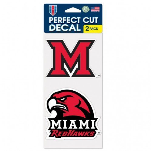 - WinCraft NCAA University of Miami-Ohio Perfect Cut Decal (Set of 2), 4