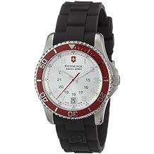 Victorinox Swiss Army Women's 241484 Maverick Silver Dial Black Rubber Strap Watch