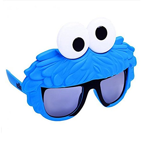 Sunstaches Sesame Street Cookie Monster Sunglasses, Party Favors, (Monster Sunglasses)