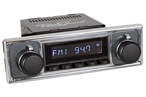 Retro Manufacturing Long Beach Radio with Black Face and Pushbuttons, Bezel & Knobs Kit LB-M4-308-509-40-80