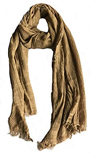 Colby&Co 100% Pure Natural Cotton, No Synthetic Fibers, Unisex, Scarves - Multi Colors/Styles (Golden Truffle)