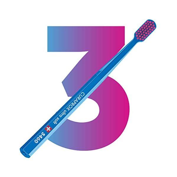 Curaprox CS5460PACK Ultra Soft Spazzolini da denti, confezione da 3 pz, colori assortiti 2 spesavip