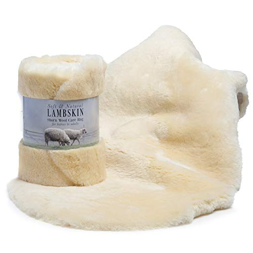 Silky Soft and 100% Natural Lambskin Care Rug, XXL Size 40