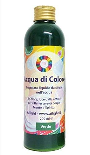 Acqua di Colore Verde 200 ml - Preparato liquido per bagni cromoterapici Ailight