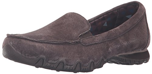 Relaxed Scarpe collo Skechers basso Marrone Donna Suede Pedestrian a Chocolate Bikers ZwZq4T