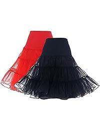 Women's Vintage Rockabilly Petticoat Skirt Tutu 1950s...