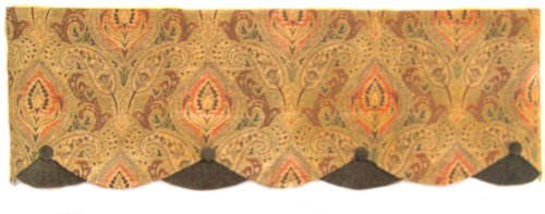 RLF HOME Montana Petticoat Valance, Red by RLF HOME