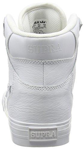 white Mixte White Blanc Adulte Sneakers Red Vaider Supra Hautes Y7wvvT
