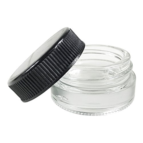 7ml Wide Mouth Glass Concentrate Containers for Oils and Makeup (360ct)