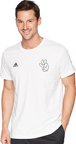 Mascot T-shirt Adidas Large (adidas World Cup Soccer Mascot Men's Tee, Large, White)