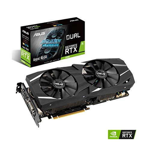 Black Dvi Graphics Card - ASUS GeForce RTX 2060 Advanced Overclocked 6G GDDR6 Dual-Fan Edition VR Ready HDMI DP 1.4 DVI Graphics Card (DUAL-RTX-2060-A6G)