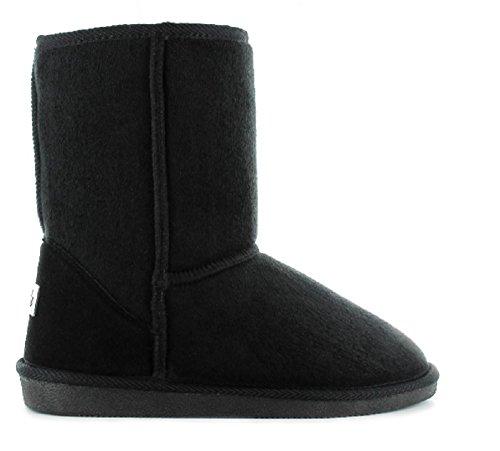Ella Womens Ladies Winter Boot Comfortable Faux Fur Lined Size 3 4 5 6 7 8 Midi Black yATTBkFEC5