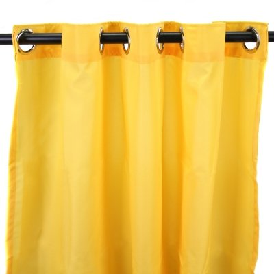 Outdoor Curtain Panel in Yellow