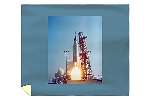 Project Mercury MA-9 Launch, Faith 7 Photograph (88x104 King Microfiber Duvet Cover) by Lantern Press