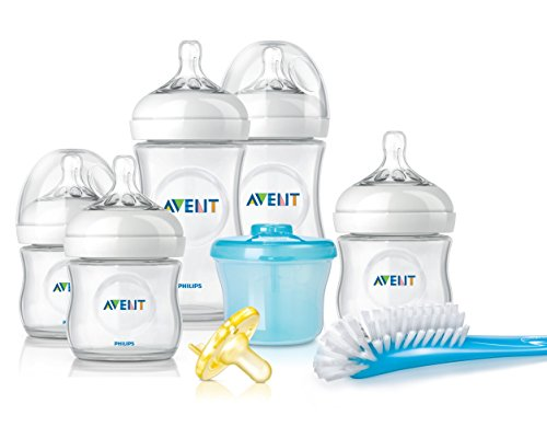 Philips Avent Natural Newborn Baby Bottle Starter Set, SCD296/02 by Philips AVENT