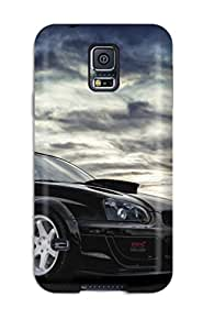Rugged Skin Case Cover For Galaxy S5- Eco-friendly Packaging(subaru Wrx Sti 30)