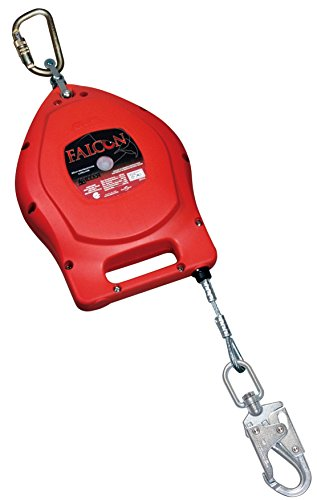 Miller Falcon 50-Foot Self-Retracting Galvanized Wire Lifeline with Swivel/Carabiner & Swivel/Snap Hook (MP50G-Z7/50FT)