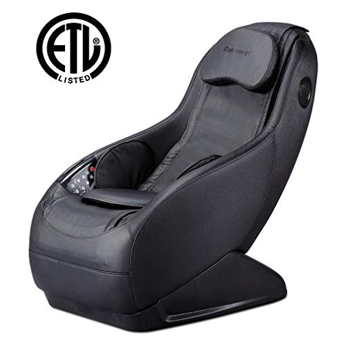 Full Body Electric Shiatsu Massage Chair Fully Assembled Video Gaming Chair with Airbag Massage SL-Track Curved Long Rail Wireless Bluetooth Speaker USB Charger for Office Home Living Room -